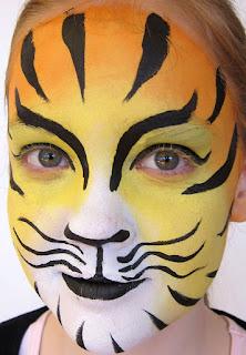 Tigersminke ansigtsmaling