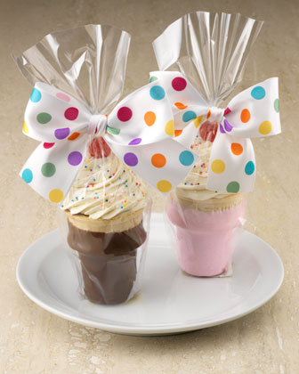 Making Cupcakes In Ice Cream Cones