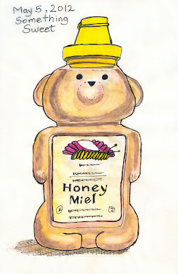 Something Sweet - Honey Bear Jar drawing by ©Ana Tirolese