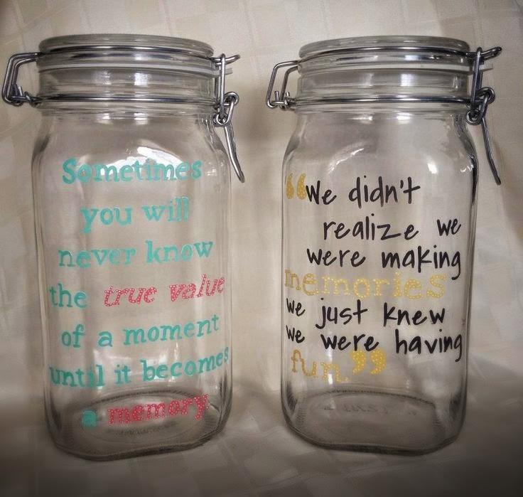 E vamos fazer um pote de memórias