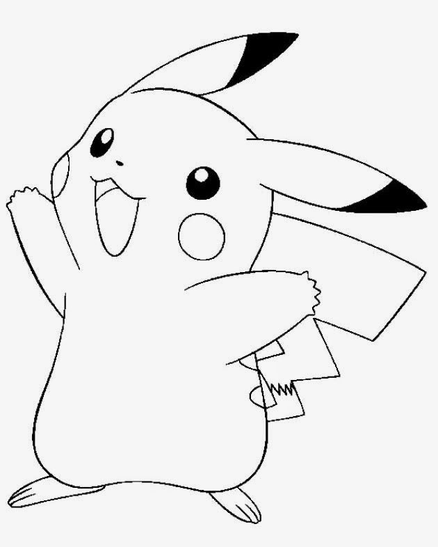 Pichu With Hat Coloring Pages
