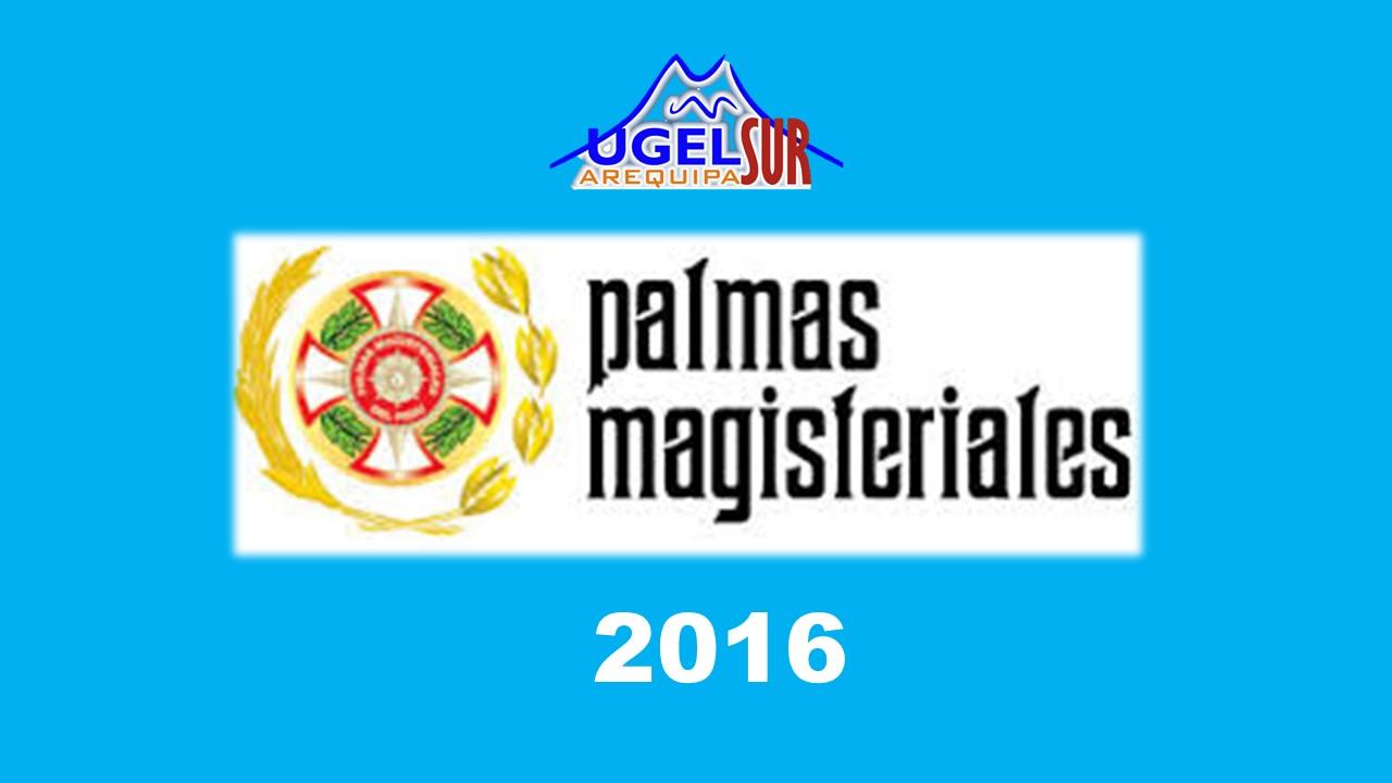 PALMAS MAGISTERIALES 2016
