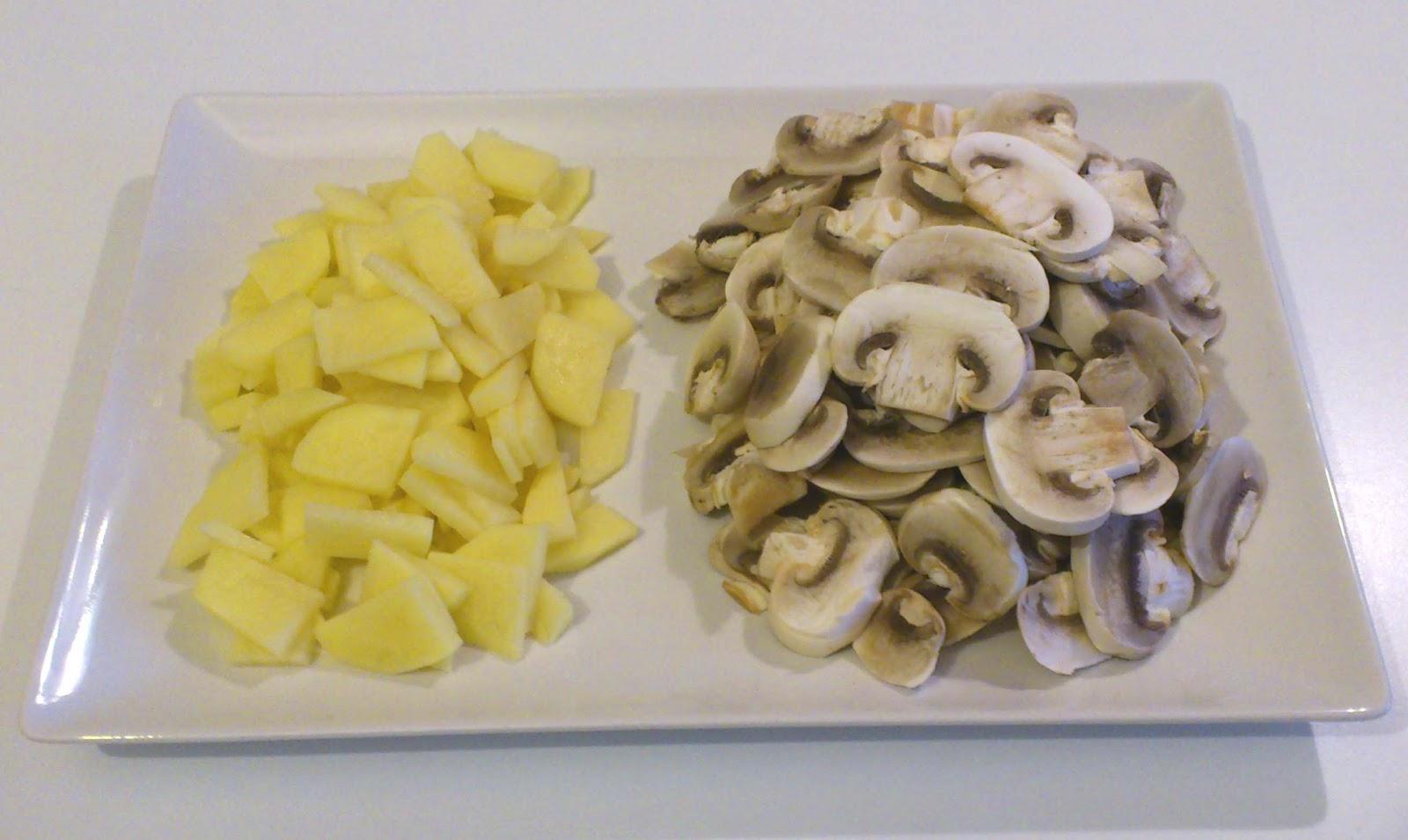 patata y champiñones