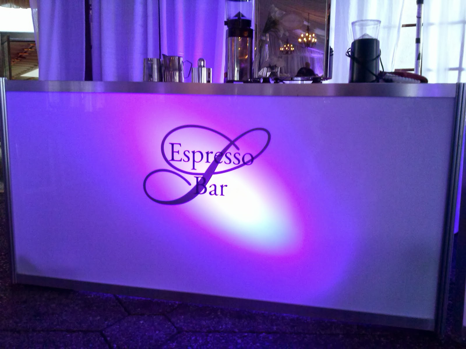 Espresso Bar Glow Bar Decals