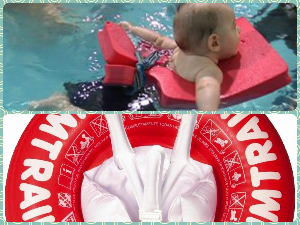 bebé en la playa flotador