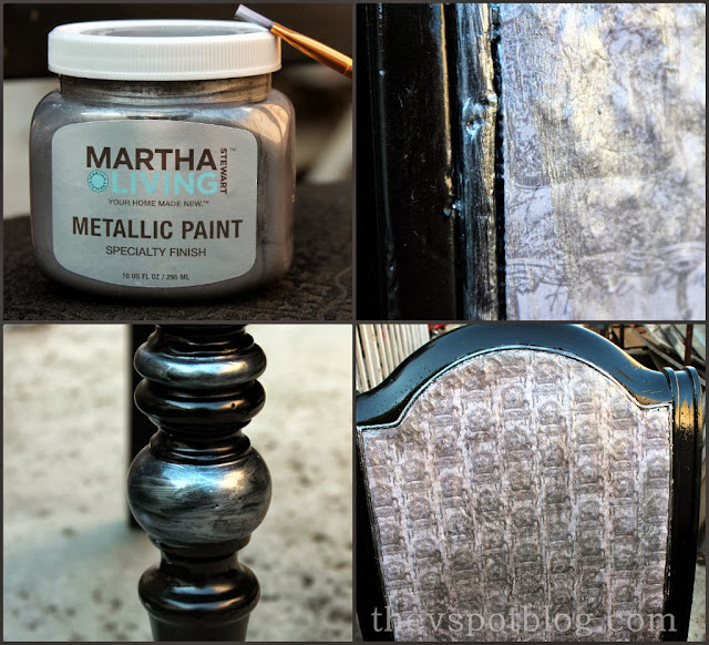 Martha Stewart metallic paint, specialty finish, Halloween porch decor