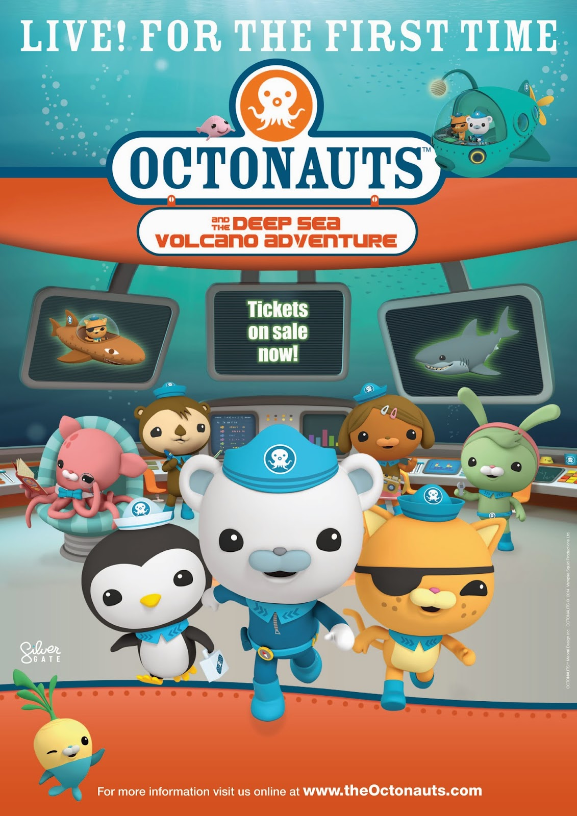 Octonauts 2014, Octonauts Live Show, Octonauts and th Deep Sea Volcano Adventure Live Ticket Giveaway
