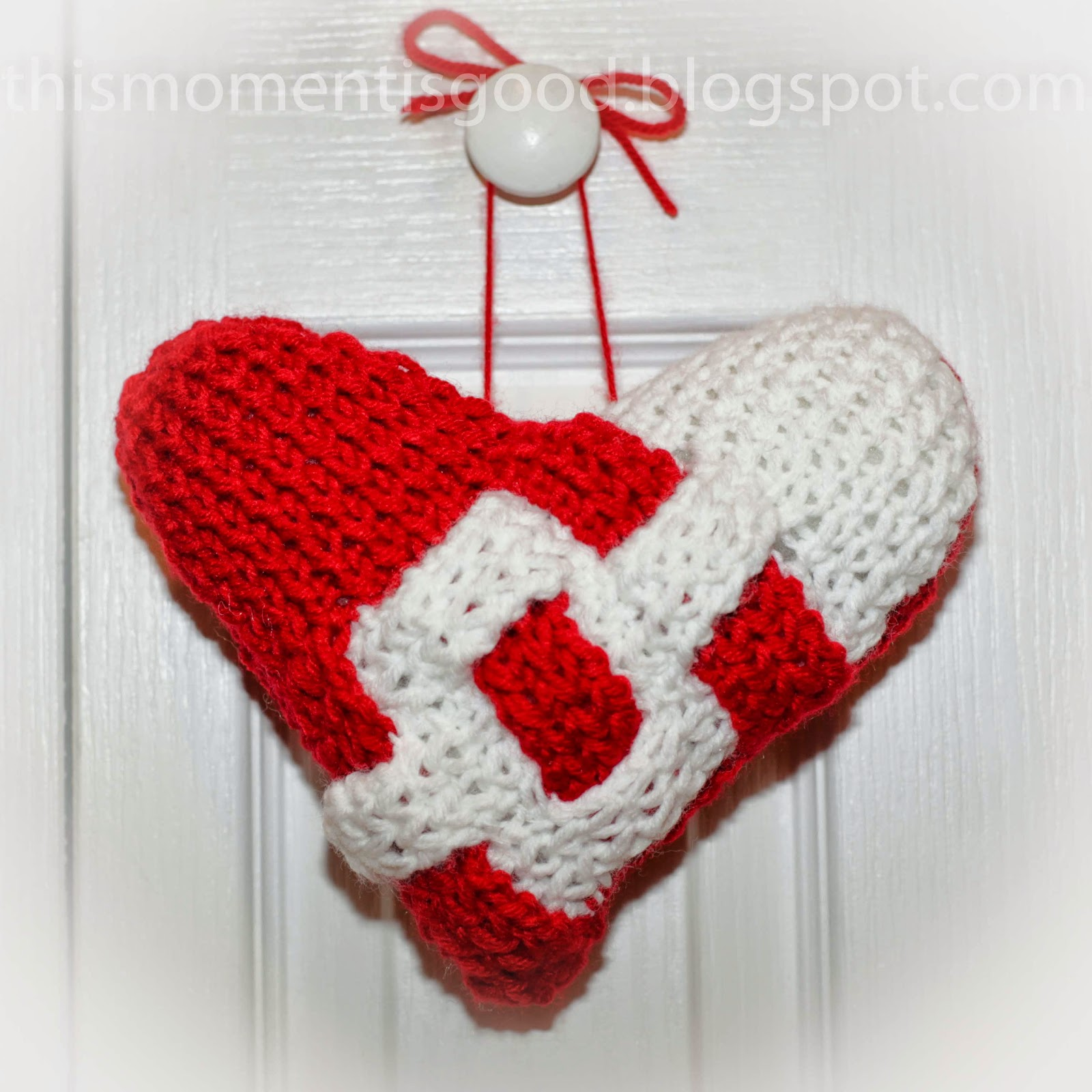Knitted Heart Cushion Pattern : Loom Knitting by This Moment is Good!: LOOM KNIT HEART PILLOW PATTERN...