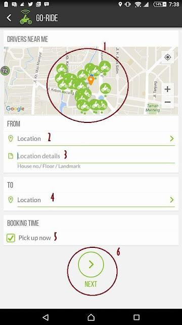 Tampilan Menu Alamat Aplikasi Gojek - Blog Mas Hendra
