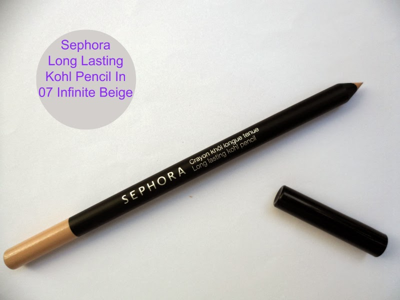 Sephora Long Lasting Kohl Pencil In Infinite Beige - Review&Swatches