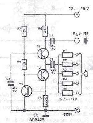 Very Simple Audio Mixer Cir cuit Circuits