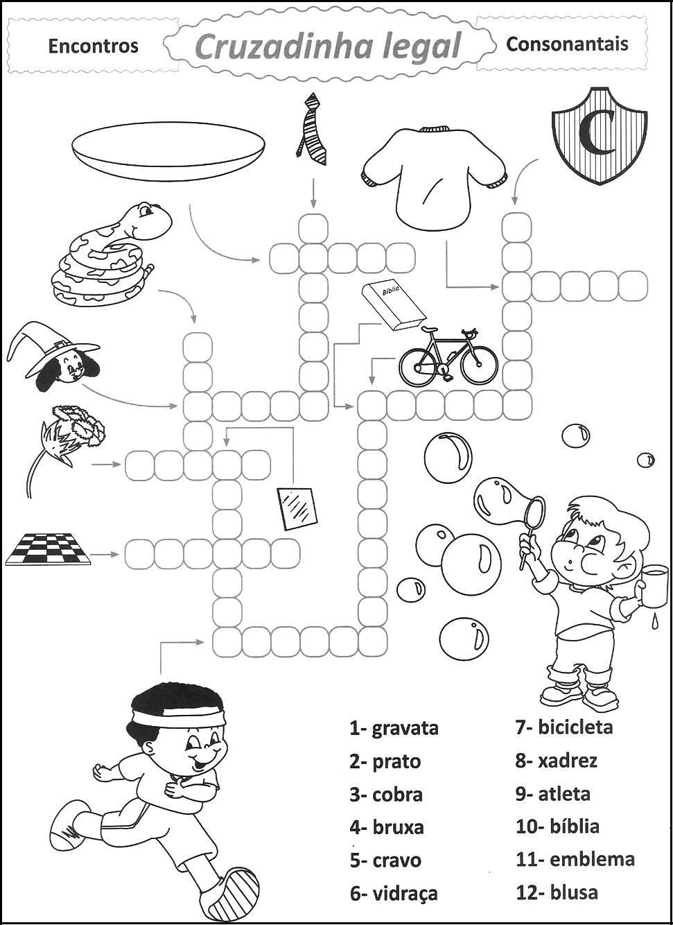 Atividades De Alfabetiza    O   Encontros Consonantais