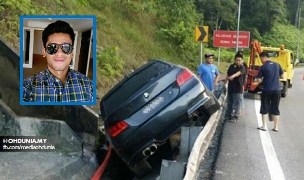 Pelakon Redza Rosli terbabit kemalangan berhampiran Terowong Menora