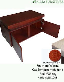 Contoh Furniture Semprot Melamine Red Mahony