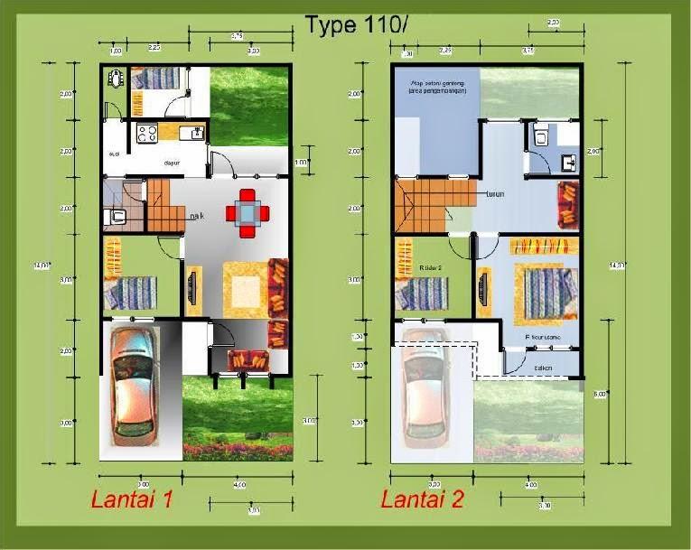 denah rumah minimalis modern terbaru 2015Kelstudio