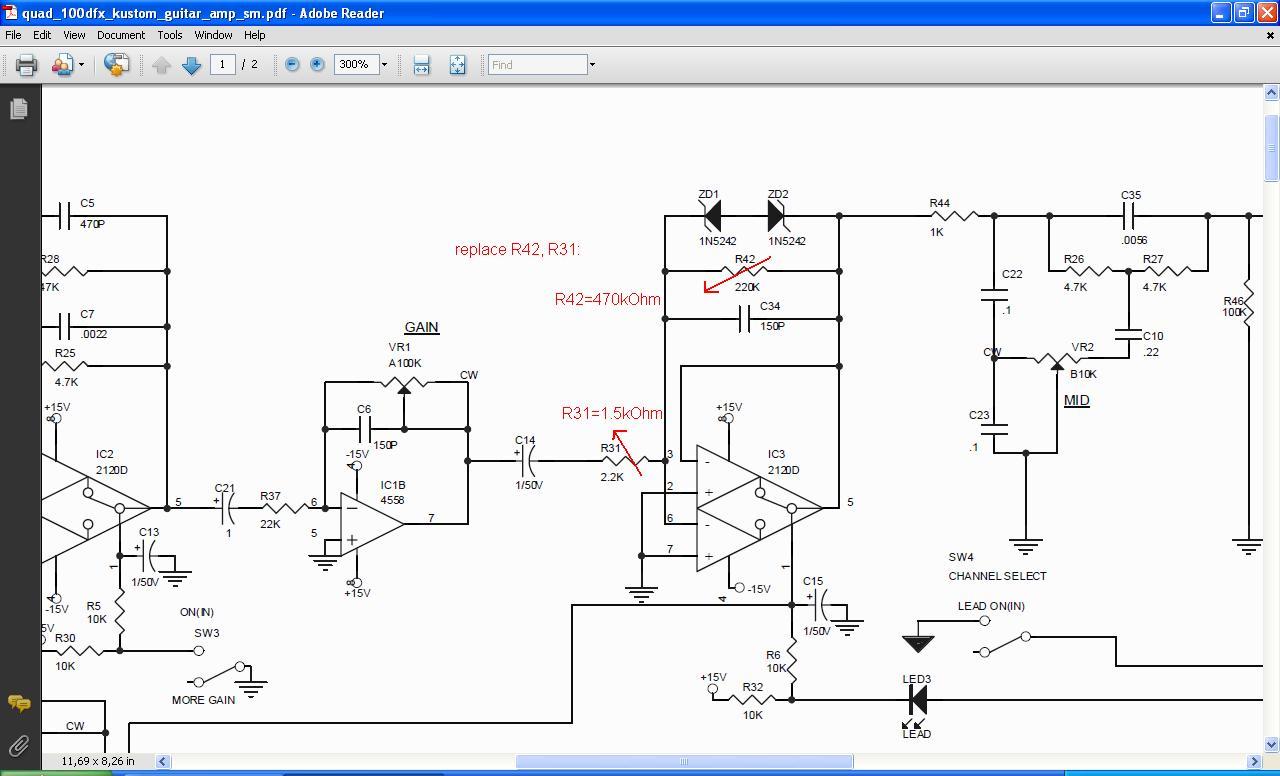 kustom amp schematic fender amp schematics