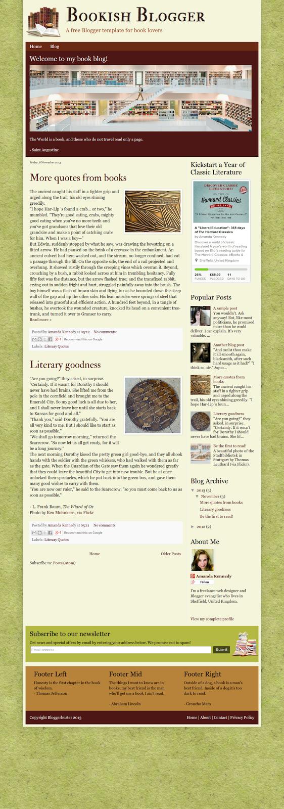 Blogger Book Template Images - Template Design Ideas
