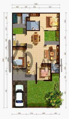 Gambar Foto Denah Rumah Minimalis Terbaru