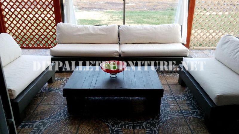 Set de muebles con palets para la terraza for Muebles terraza