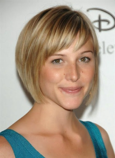 Short thin hair with bangs