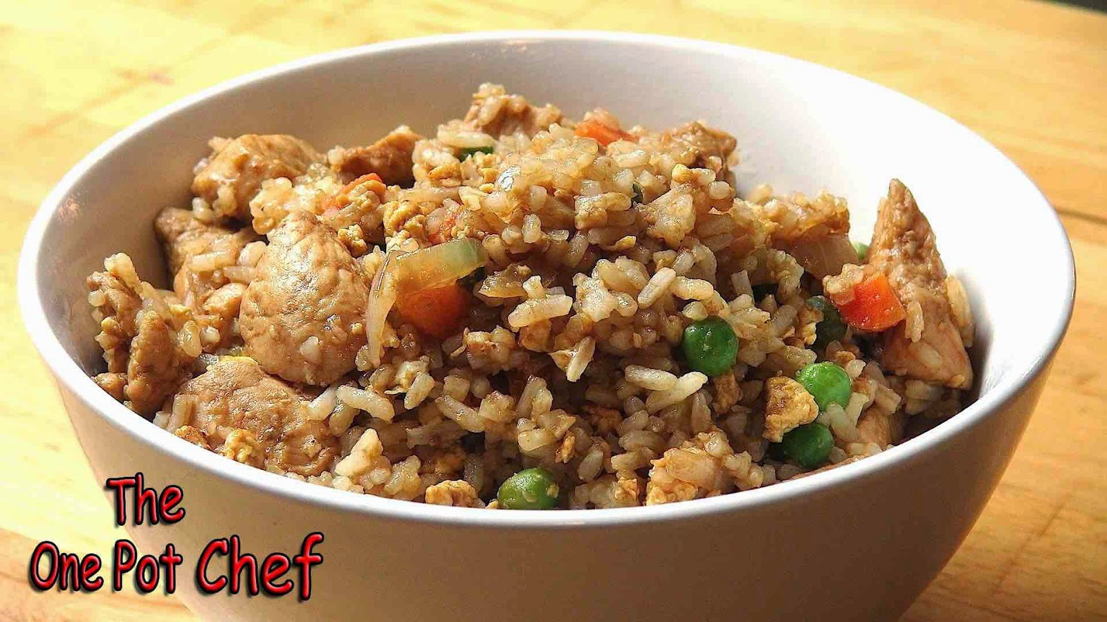 The One Pot Chef Show: Super Fast Chicken Fried Rice - RECIPE
