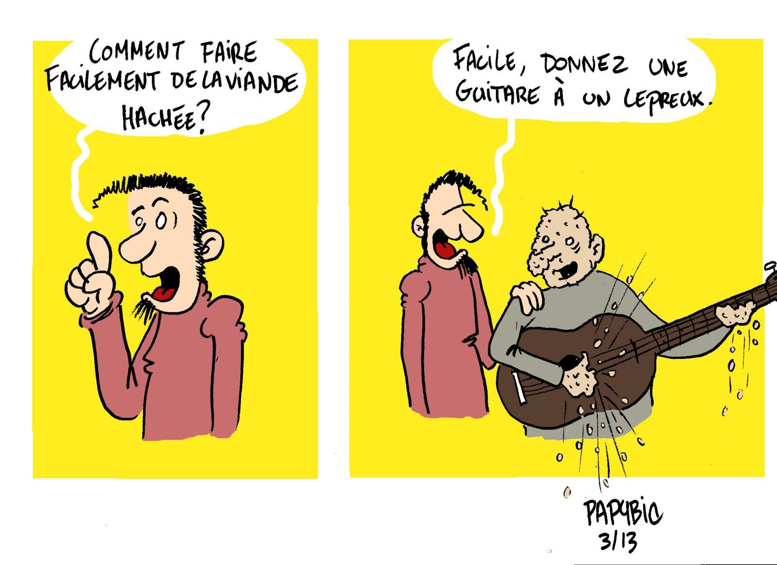 blague lepreux
