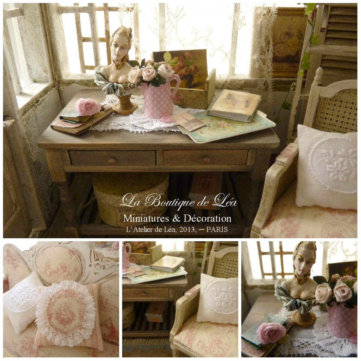 ambiance romantique gustavienne shabby cheap abat jour gustavien u ornement shabby chic et. Black Bedroom Furniture Sets. Home Design Ideas