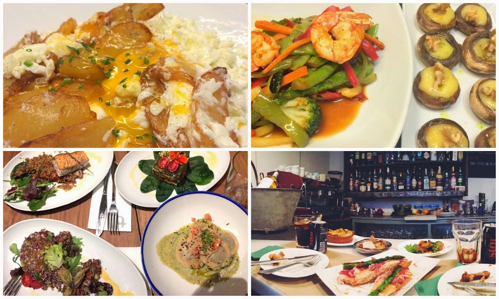 comida restaurantes patatas verduras gambas pan comer cenar barcelona bodegueta provença flax&kale tarambana barcelona mágica bcn