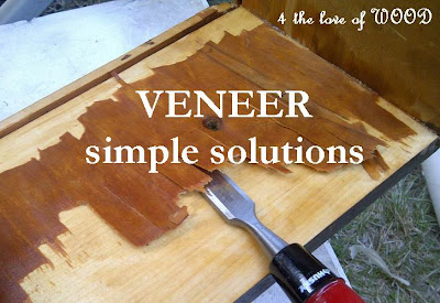 For these repairs you will need 3 items, - VENEER Repairing Bubbles ~ Woodworking Never End