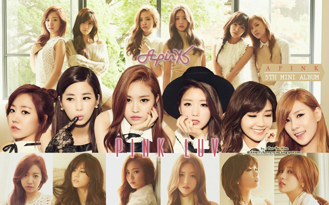 kpop lover apink pink luv wallpaper