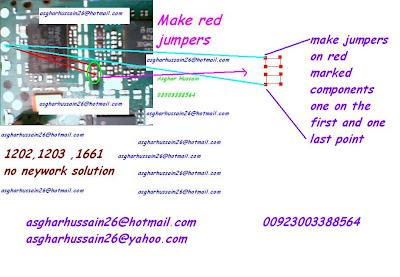Nokia 1202 1203 1661 1662 no network solution