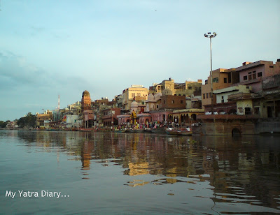 Mathura Ghats as seen from the Yamuna River Boat ride