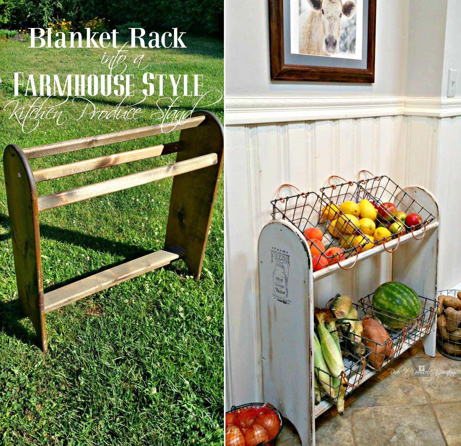 repurposed vegetable racks stand blanket redo farmhouse yourself inspirations rack quilt it