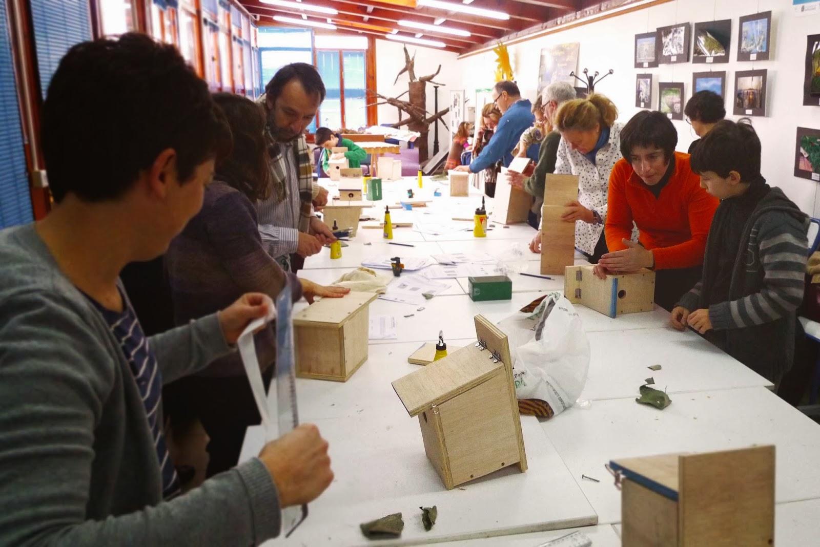 En el taller de SEO/Birdlife de cajas nido