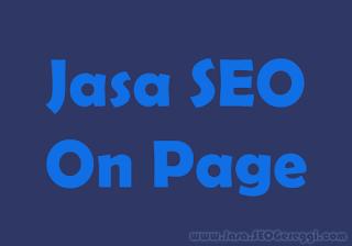 Jasa SEO On Page