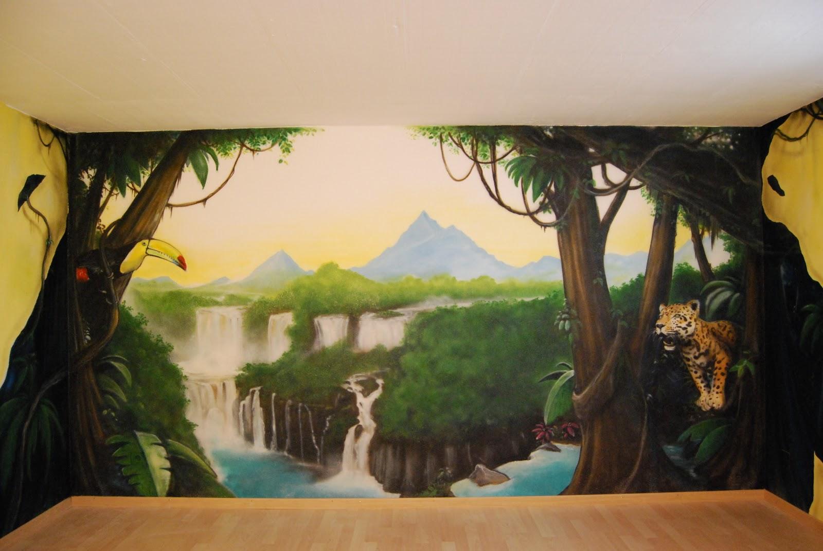 D coration graffiti dans une cave quel beau r sultat - Decoration trompe l oeil ...
