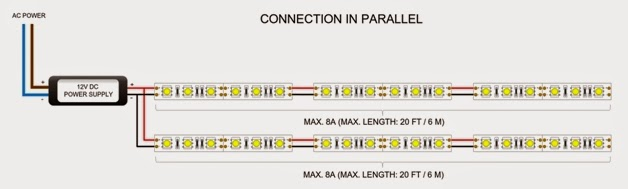 Led Strip Wiring Diagram Dimmer Without Parallel