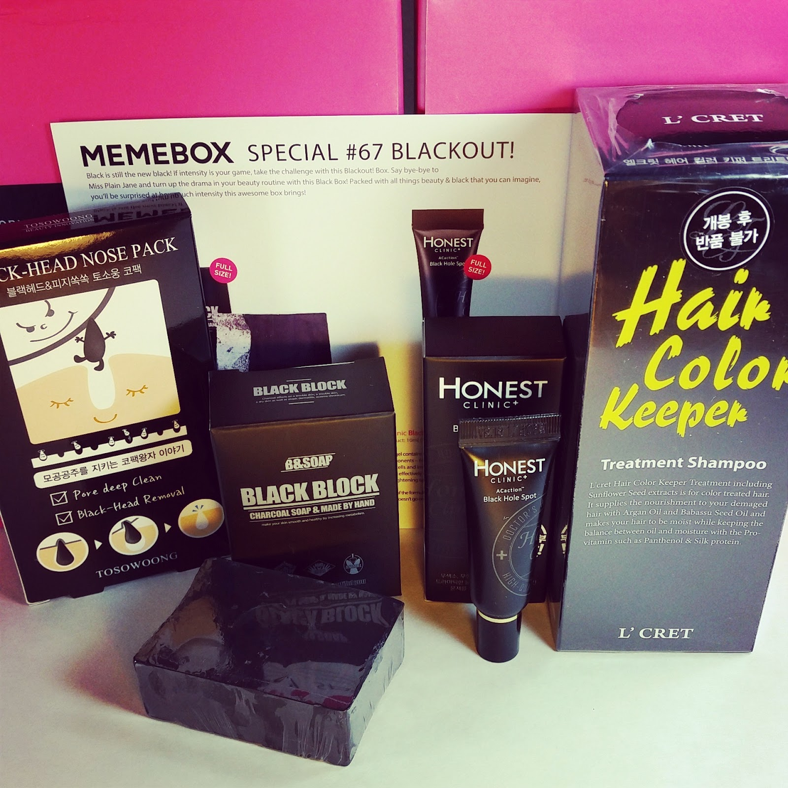 Memebox Review Black Out