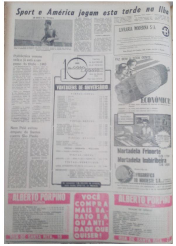 MEMÓRIAS ESMERALDINAS: América 2x2 Sport em outubro de 1965
