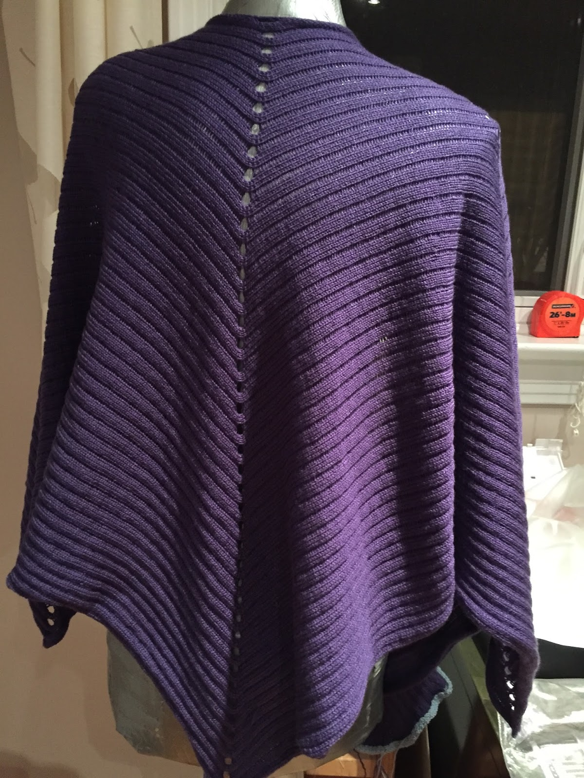 The Sewing Lawyer: An easy machine knitted shawl