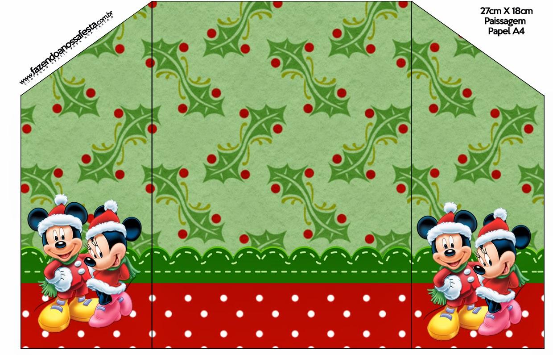 minnie y mickey especial navidad invitaciones para