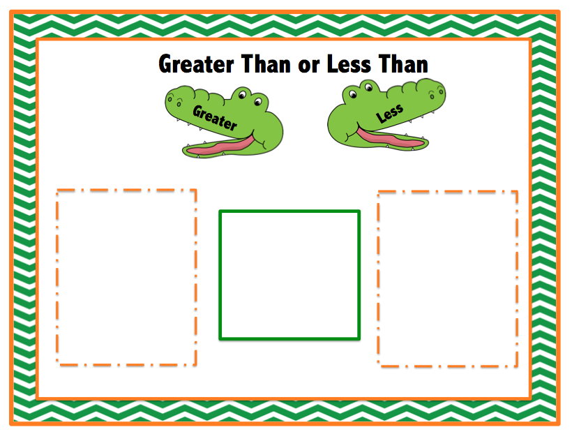 Versatile image inside greater than less than alligator printable