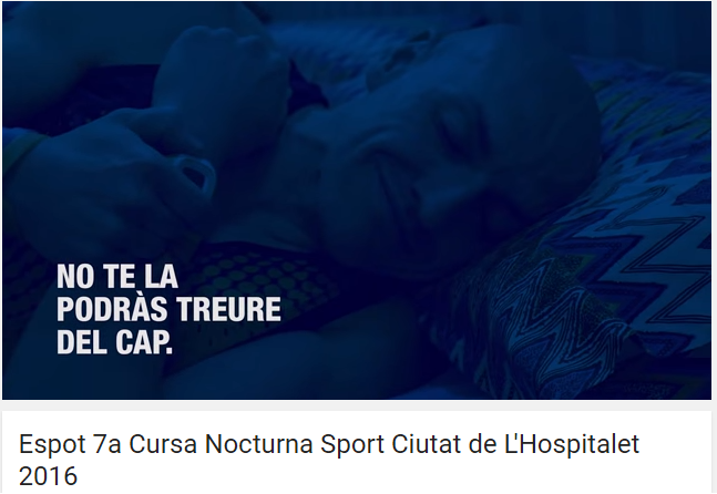 Anuncio Cursa Nocturna Sport Ciutat L'Hospitalet'16 (16.04.16)
