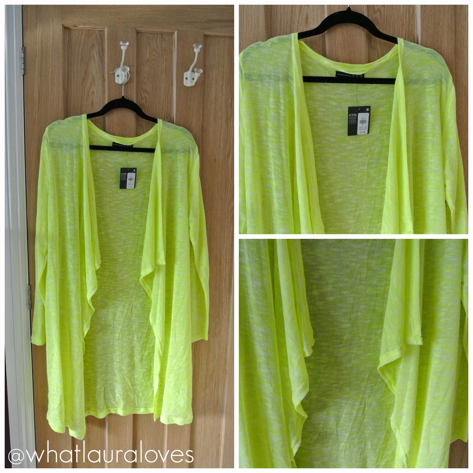Primark Lime Waterfall Cardigan