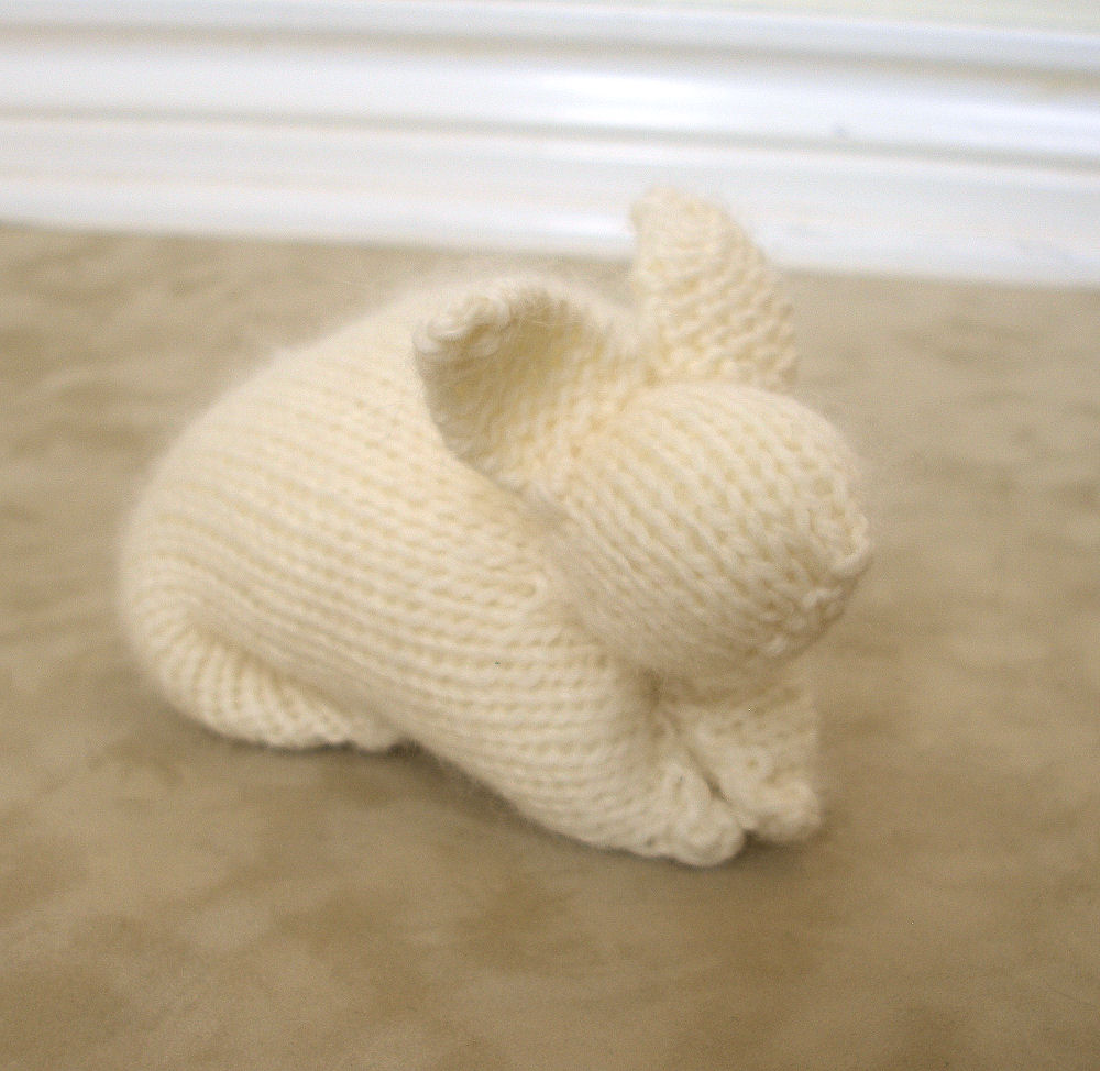 Knitting Animals From Squares : Jeweledelegance super easy knitted bunny secrets to an