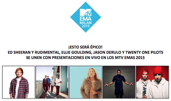 épico-Ed-Sheeran-Rudimental-Ellie-Goulding-Jason-Derulo-Twenty-One-Pilots-unen-presentaciones-vivo-MTV-Emas-2015