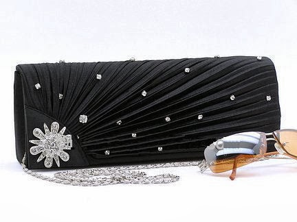 fashion evening clutch with rhinestones