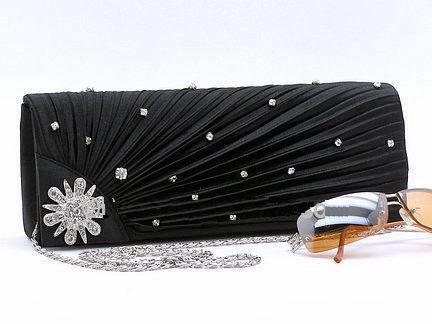 fashion evening clutch with rhinestones