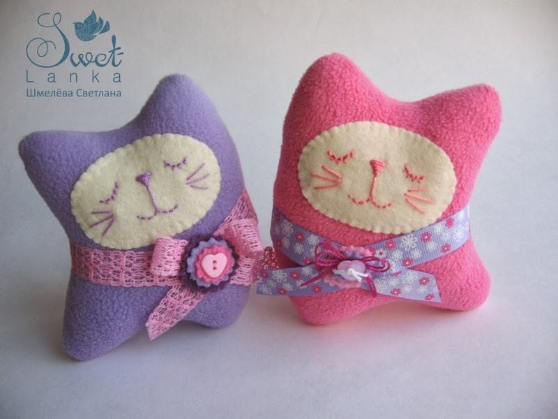 милые текстильные котики