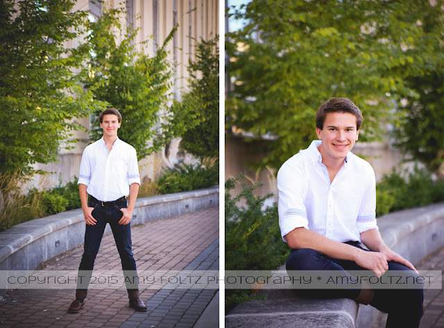 senior boy session in downtown Terre Haute, Indiana